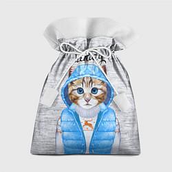 Мешок для подарков Модная киска цвета 3D — фото 1