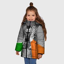 Детская зимняя куртка для девочки с принтом McGregor: Boxing of Thrones, цвет: 3D-черный, артикул: 10102373906065 — фото 2