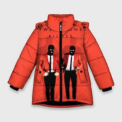 Куртка зимняя для девочки Twenty One Pilots цвета 3D-черный — фото 1
