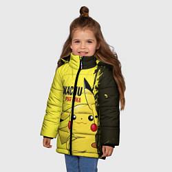 Куртка зимняя для девочки Pikachu Pika Pika цвета 3D-черный — фото 2