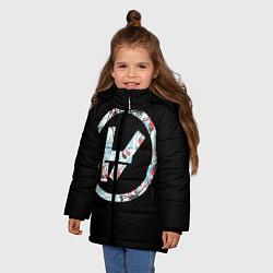 Куртка зимняя для девочки 21 Pilots: Symbol цвета 3D-черный — фото 2