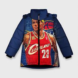 Куртка зимняя для девочки LeBron 23: Cleveland цвета 3D-черный — фото 1