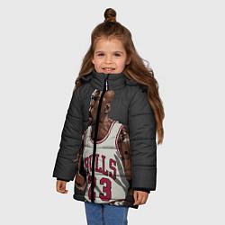 Куртка зимняя для девочки Bulls 23: Jordan цвета 3D-черный — фото 2
