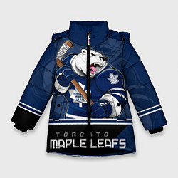 Куртка зимняя для девочки Toronto Maple Leafs цвета 3D-черный — фото 1