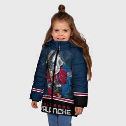 Куртка зимняя для девочки Colorado Avalanche цвета 3D-черный — фото 2