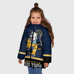 Куртка зимняя для девочки Nashville Predators цвета 3D-черный — фото 2