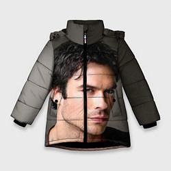 Куртка зимняя для девочки Ian Somerhalder цвета 3D-черный — фото 1