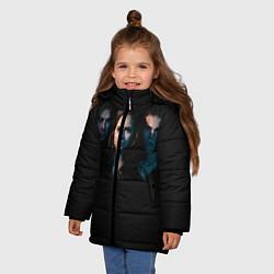 Куртка зимняя для девочки Vampire Trio цвета 3D-черный — фото 2