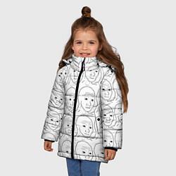 Куртка зимняя для девочки I Know That Feel Bro цвета 3D-черный — фото 2