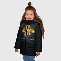 Куртка зимняя для девочки Полиция Российской Федерации цвета 3D-черный — фото 2