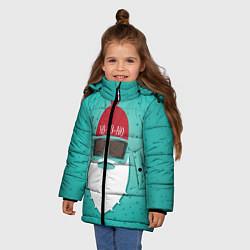 Куртка зимняя для девочки Санта хипстер цвета 3D-черный — фото 2