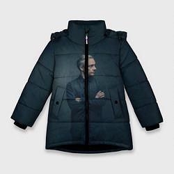 Куртка зимняя для девочки Доктор в рубашке цвета 3D-черный — фото 1