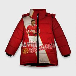 Куртка зимняя для девочки David Backham цвета 3D-черный — фото 1