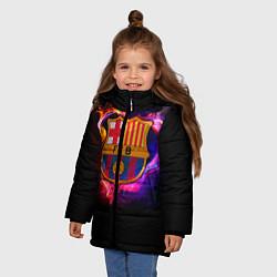 Куртка зимняя для девочки Barcelona7 цвета 3D-черный — фото 2