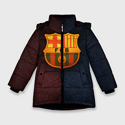 Куртка зимняя для девочки Barcelona8 цвета 3D-черный — фото 1