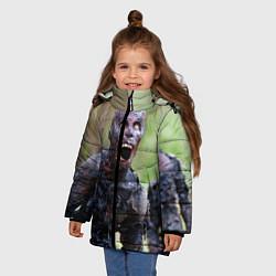 Куртка зимняя для девочки Zombie цвета 3D-черный — фото 2