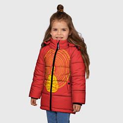 Куртка зимняя для девочки Гомер медитирует цвета 3D-черный — фото 2