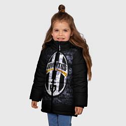 Куртка зимняя для девочки Juventus: shadows цвета 3D-черный — фото 2
