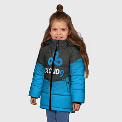 Куртка зимняя для девочки Cloud 9 Uniform цвета 3D-черный — фото 2