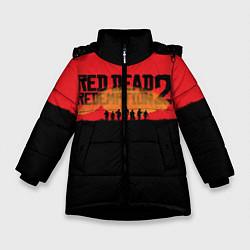 Куртка зимняя для девочки Red Dead Redemption 2 цвета 3D-черный — фото 1