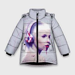 Куртка зимняя для девочки Die Antwoord: Wild Eyes цвета 3D-черный — фото 1
