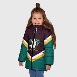 Куртка зимняя для девочки NHL: Anaheim Ducks цвета 3D-черный — фото 2