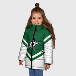 Куртка зимняя для девочки NHL: Dallas Stars цвета 3D-черный — фото 2
