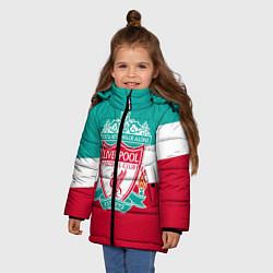 Куртка зимняя для девочки Liverpool: You'll never walk alone цвета 3D-черный — фото 2
