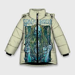Куртка зимняя для девочки Bring Me The Horizon цвета 3D-черный — фото 1