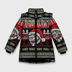 Куртка зимняя для девочки Freddy Christmas цвета 3D-черный — фото 1