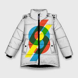 Куртка зимняя для девочки 69 цвета 3D-черный — фото 1