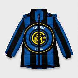 Детская зимняя куртка для девочки с принтом Inter FC 1908, цвет: 3D-черный, артикул: 10113557906065 — фото 1