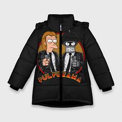 Куртка зимняя для девочки Pulporama цвета 3D-черный — фото 1