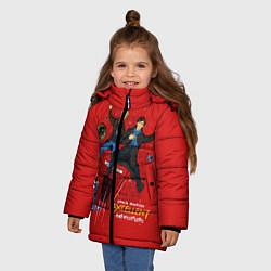 Куртка зимняя для девочки Excellent Adventure цвета 3D-черный — фото 2