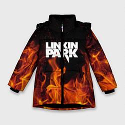 Куртка зимняя для девочки Linkin Park: Hell Flame цвета 3D-черный — фото 1
