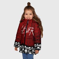 Куртка зимняя для девочки Slayer Red цвета 3D-черный — фото 2