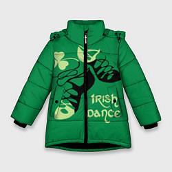 Куртка зимняя для девочки Ireland, Irish dance цвета 3D-черный — фото 1