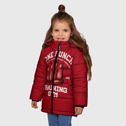 Куртка зимняя для девочки One Punch Gym цвета 3D-черный — фото 2