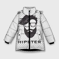 Куртка зимняя для девочки Hipster цвета 3D-черный — фото 1
