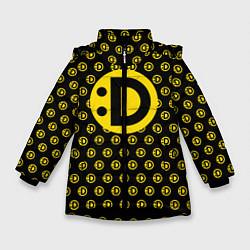 Куртка зимняя для девочки Улыбака цвета 3D-черный — фото 1