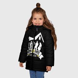 Куртка зимняя для девочки Brazzers House цвета 3D-черный — фото 2