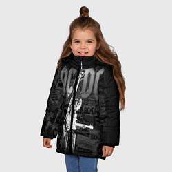 Куртка зимняя для девочки AC/DC: Rock You цвета 3D-черный — фото 2