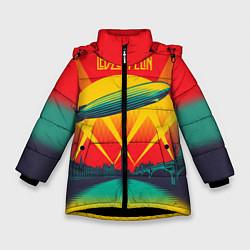 Куртка зимняя для девочки Led Zeppelin: Hindenburg цвета 3D-черный — фото 1
