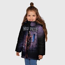 Куртка зимняя для девочки Megadeth: Madness цвета 3D-черный — фото 2