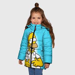 Куртка зимняя для девочки Аппетит Гомера цвета 3D-черный — фото 2