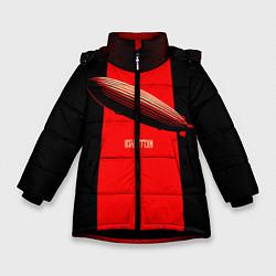 Куртка зимняя для девочки Led Zeppelin: Red line цвета 3D-черный — фото 1