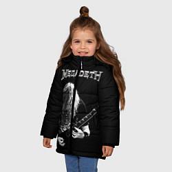 Детская зимняя куртка для девочки с принтом Dave Mustaine, цвет: 3D-черный, артикул: 10121348006065 — фото 2
