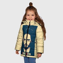 Куртка зимняя для девочки Jared Leto цвета 3D-черный — фото 2