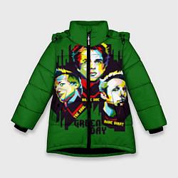 Куртка зимняя для девочки Green Day: Trio цвета 3D-черный — фото 1
