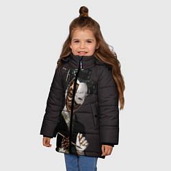 Куртка зимняя для девочки Ghost In The Shell 1 цвета 3D-черный — фото 2